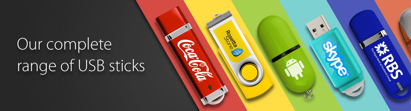 Branded USB Sticks full Range