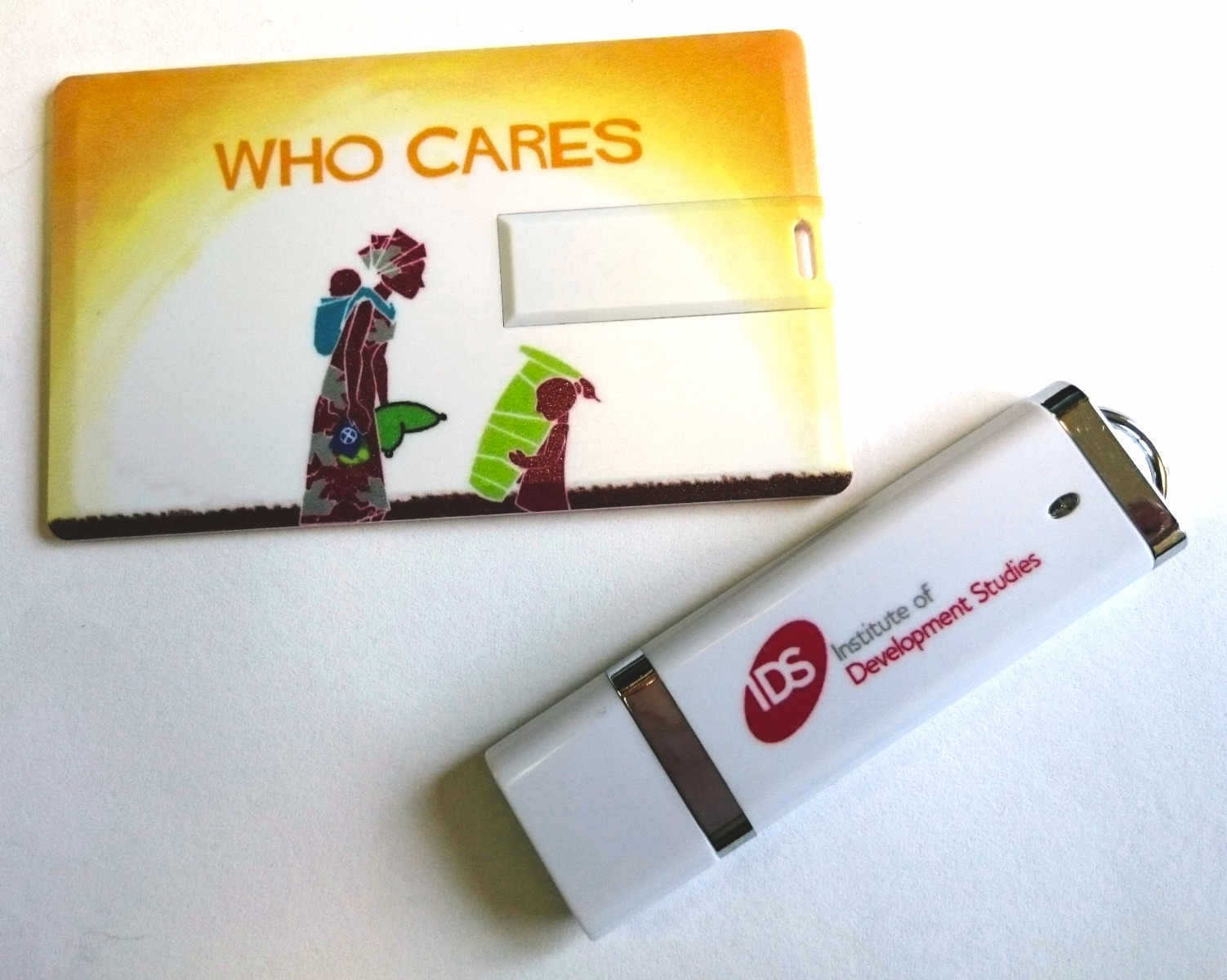 Institute of Development Services branded USB sticks