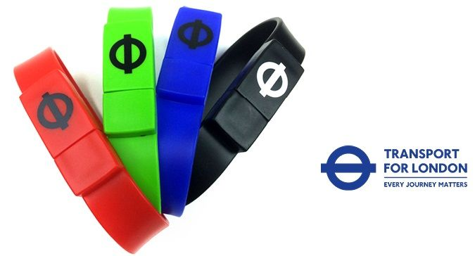 TFL branded USB wristbands