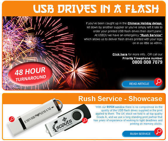 Urgent USB Flash Drives