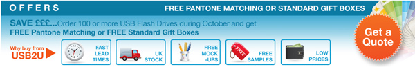 October Free USB Offers