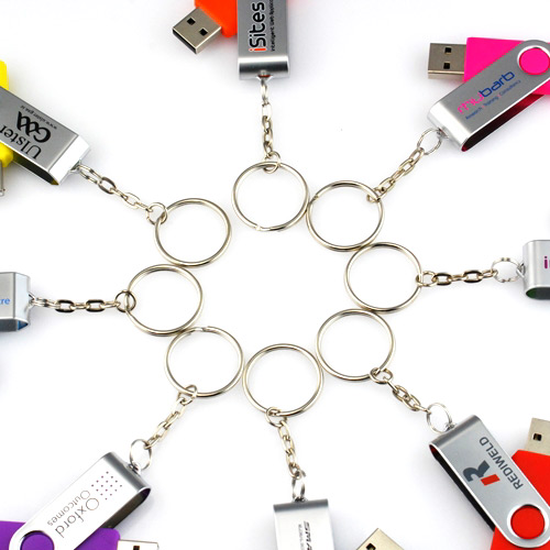 Keyrings for USB Flash Drives