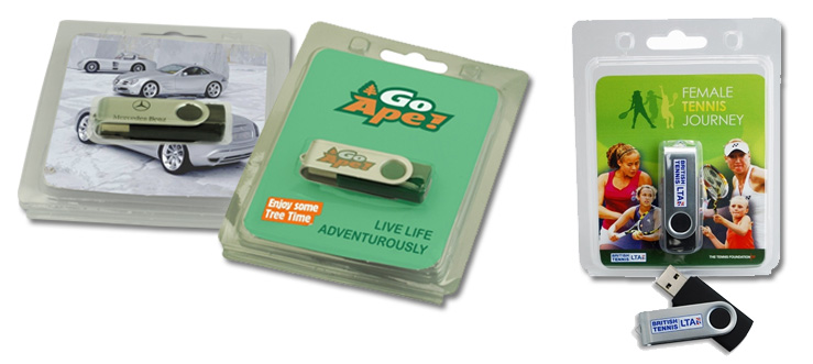 blister pack examples for branded usb flash drives