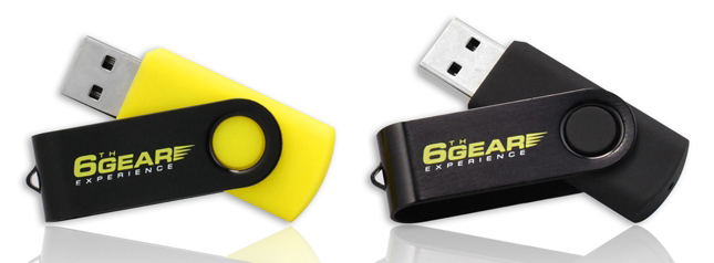 Black and Yellow USB Flash Drives