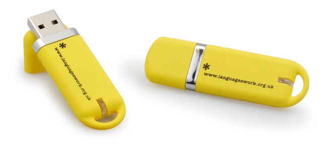 Black and Yellow Flash Drives