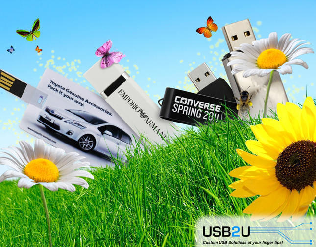 Spring USB Flash Drives