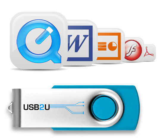 different file types and USB sticks