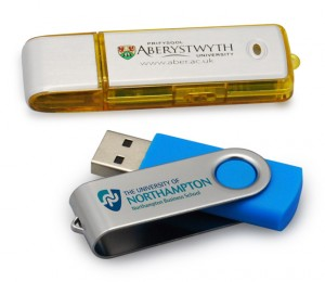 promotional usb sticks printed with university logos