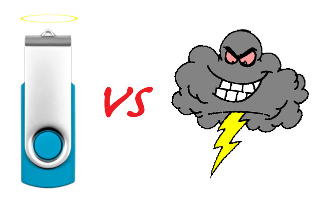 USB Flash Drive Vs Cloud