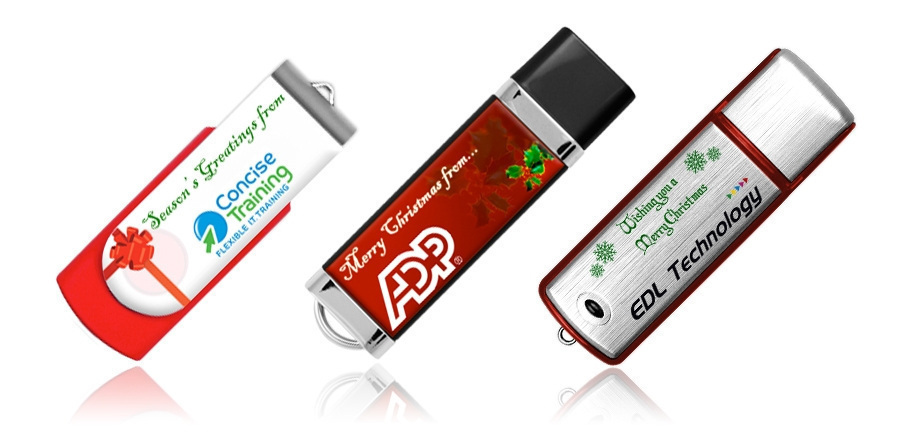 Branded USB Memory Sticks for Christmas