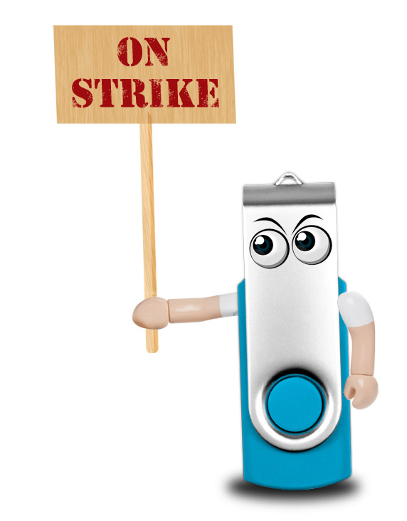 USB Flash Drive on Public Sector Strike