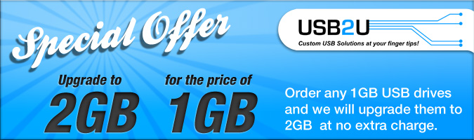 USB Memory Sizes - Upgrade Offer