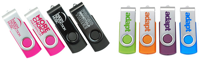 Capless Printed USB Memory Sticks