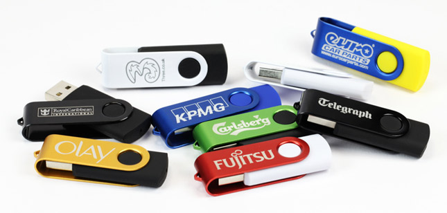 Engraved Twister USB Sticks
