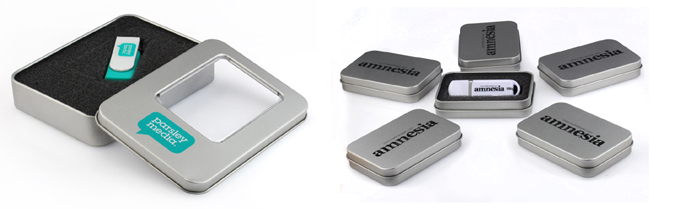 USB Flash Drives - Printed Tins