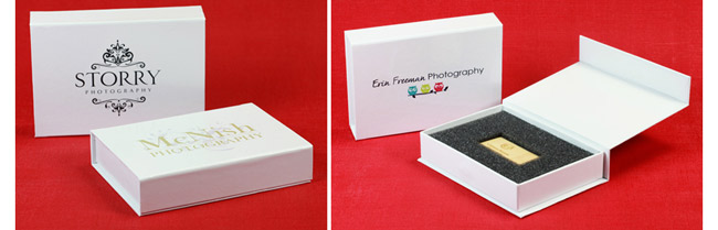 White USB Gift Boxes from USB2U