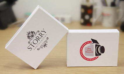 Printed USB White Gift Boxes