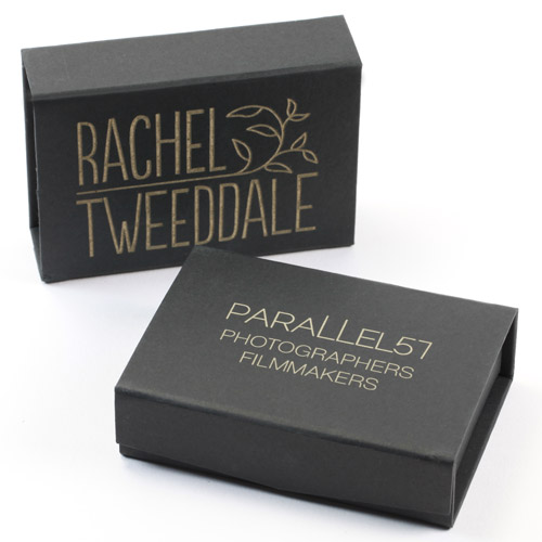 Engraved Black USB Gift Boxes