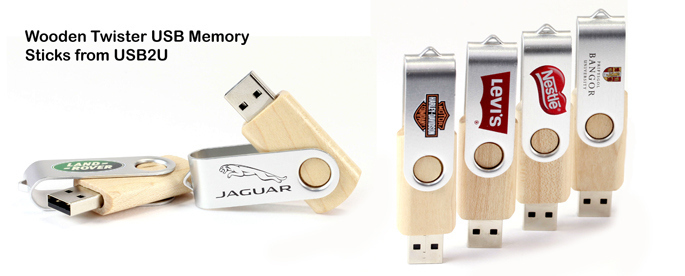 New Wooden USB Twisters from USB2U