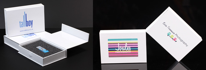 White USB Gift Boxes