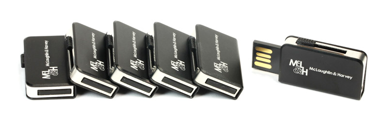 Engraved Metal Slider USB Memory Sticks
