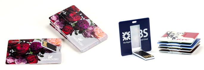 USB Cards - Flip Version with full colour print