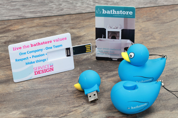 bathstore USB Cards and USB Duck
