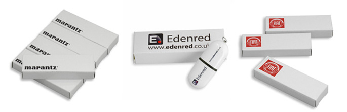 Printed White Gift Boxes for Your USB Sticks