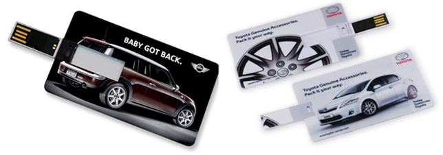 USB Cards Used by the Motor Industry