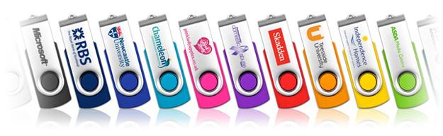 Capless Twister Style USB Memory Sticks