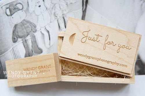 Wendy Grant Wooden USB Sticks and Boxes from USB2U