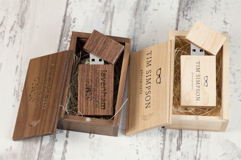 Wooden USB Sticks for Professional Photographers