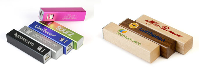 Wooden and Metallic Power Banks