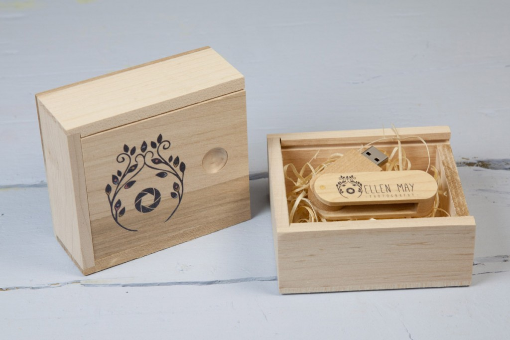Small Wooden USB Gift Box
