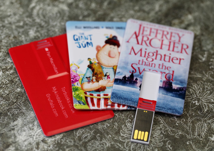 e-books on USB cards