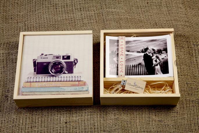 USB Pine Gift Box