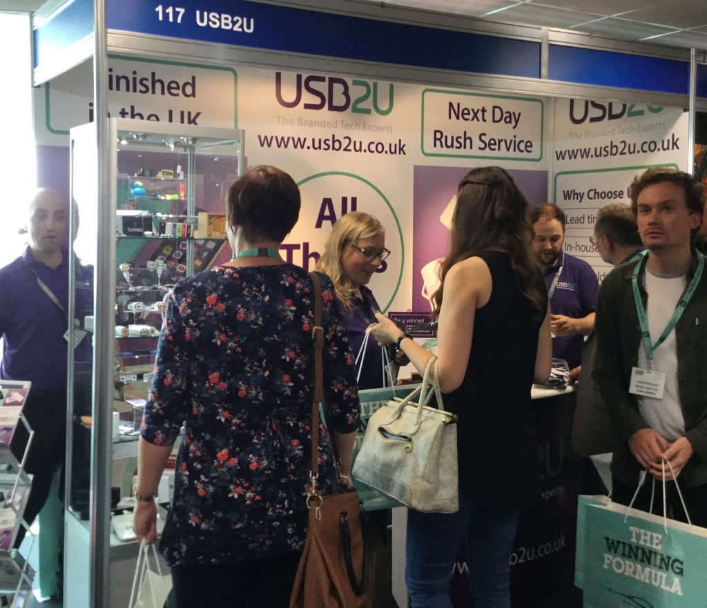 USB2U's busy stand at the BPMA show