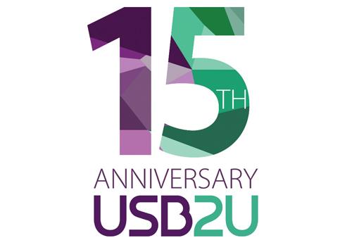 USB2U 15th Anniversary Logo