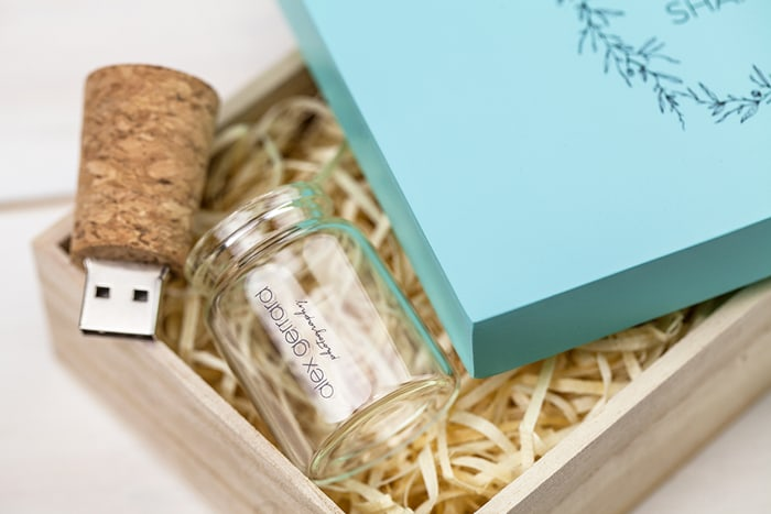 Cork Bottle USB & Pastel Box Bundle