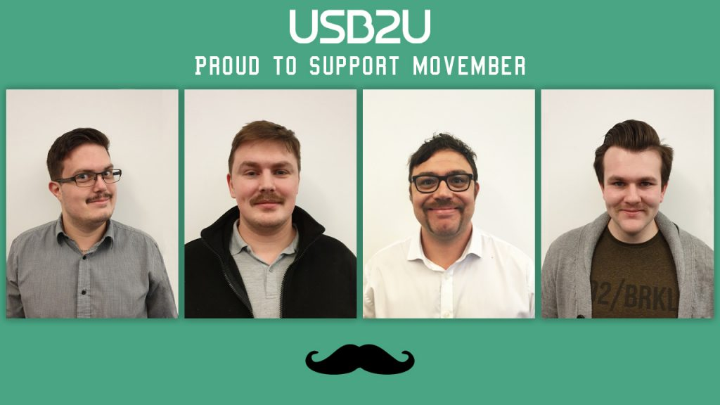 4 members of USB2U team with moustaches