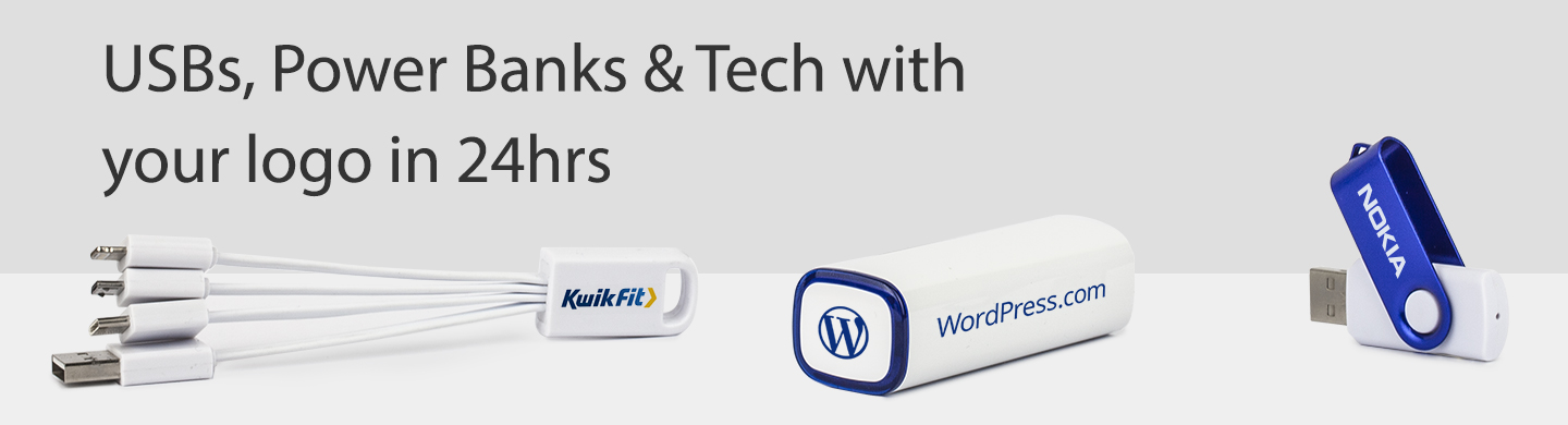 cable, twister usb and power bank with a logo from USB2U