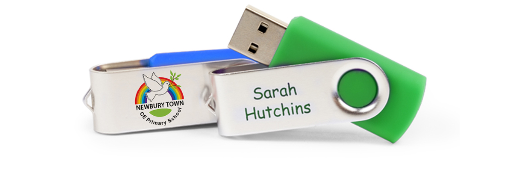 Personalised school USB stick