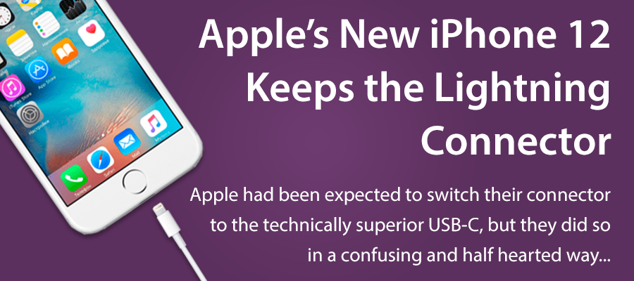 Apple iPhone retains the lightning cable
