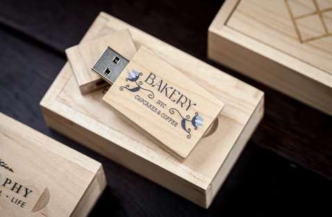 Wooden USB + Wooden Slide Box