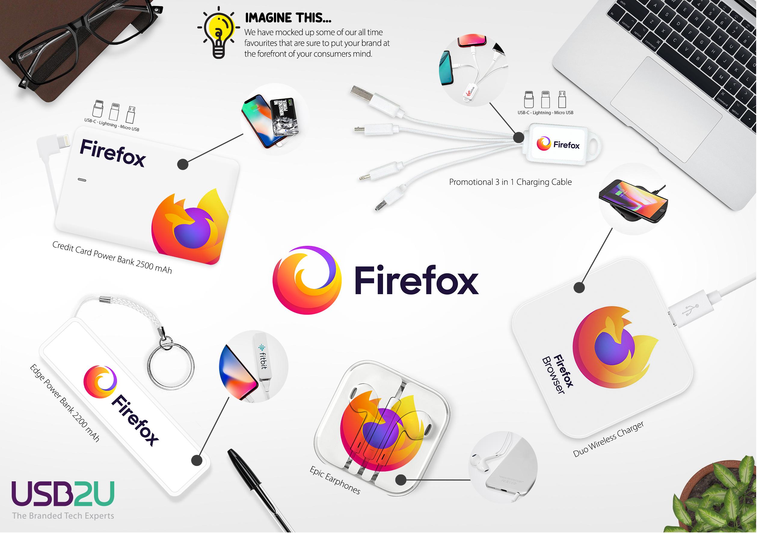 Firefox Mood Board Mockup