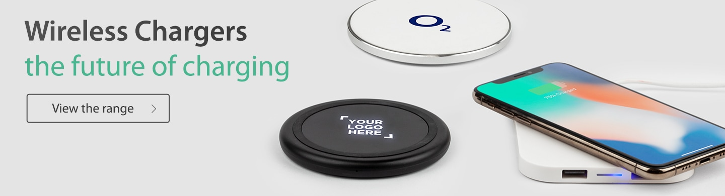 Branded Wireless Chargers with iphone