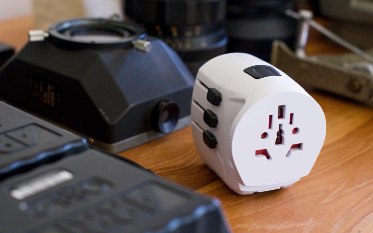 Skross travel plug being used