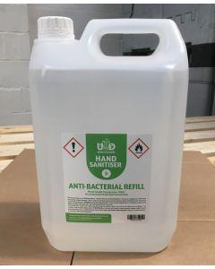 Hand Sanitiser Liquid Refill Bottle - 5 Litres