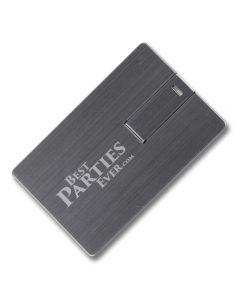 Engraved metal usb card