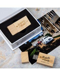 Woodland USB & Mini White Flip Box Bundle